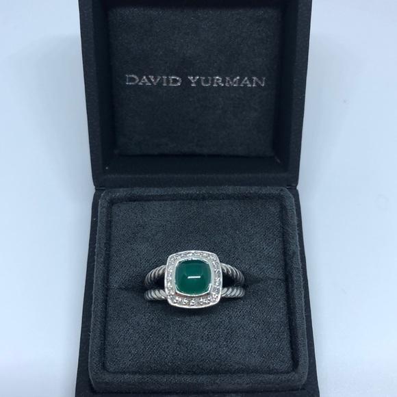 11ea7d29e0a87 David Yurman Petite Albion Green Onyx w Diamonds